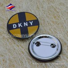 Cheap bulk different creative circle tin pin with logo
