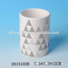 2016 Abziehbild-keramischer Feder-Behältergroßverkauf, preiswerter keramischer Feder-Halter