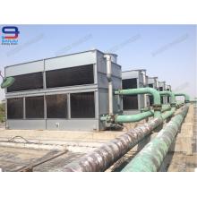 No redonda de refrigeración de agua de la máquina cerrada torre de enfriamiento