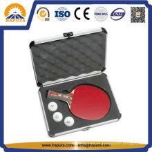 Caja de tenis de mesa de aluminio personalizado con espuma (HC-3001)