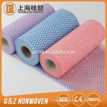 tecido não tecido spunlace para limpar tecido não tecido spunlace para limpar toalhetes de limpeza não tecido spunlace Apertured