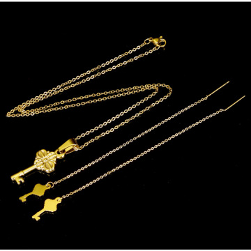 Fashion Key Shape Wholesale Zircon Jewelry Set