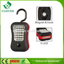 Hohe Lumen multifunktionale 24 + 4 LED magnetische Arbeitslicht mit Haken