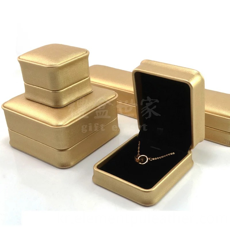 Gold PU Leather for Jewelry Box