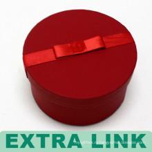 Роскошный Двойной Слой Красный Круглый Вращающийся Стойки Ящик Для Хранения