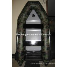Bateau gonflable de PVC de charge lourde de camouflage d'OEM