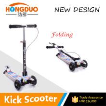 2015 new design kids plastic kick Scooter PU wheels 4 wheels kick scooter