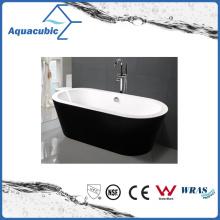 Black Surround Oval Free-Standing Acrylic Bathtub (AB1505B)