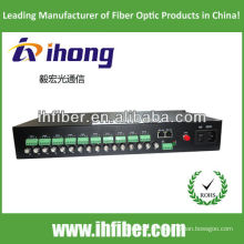 16 canais singlemode 20/40 / 60km Fibra óptica Video Converter