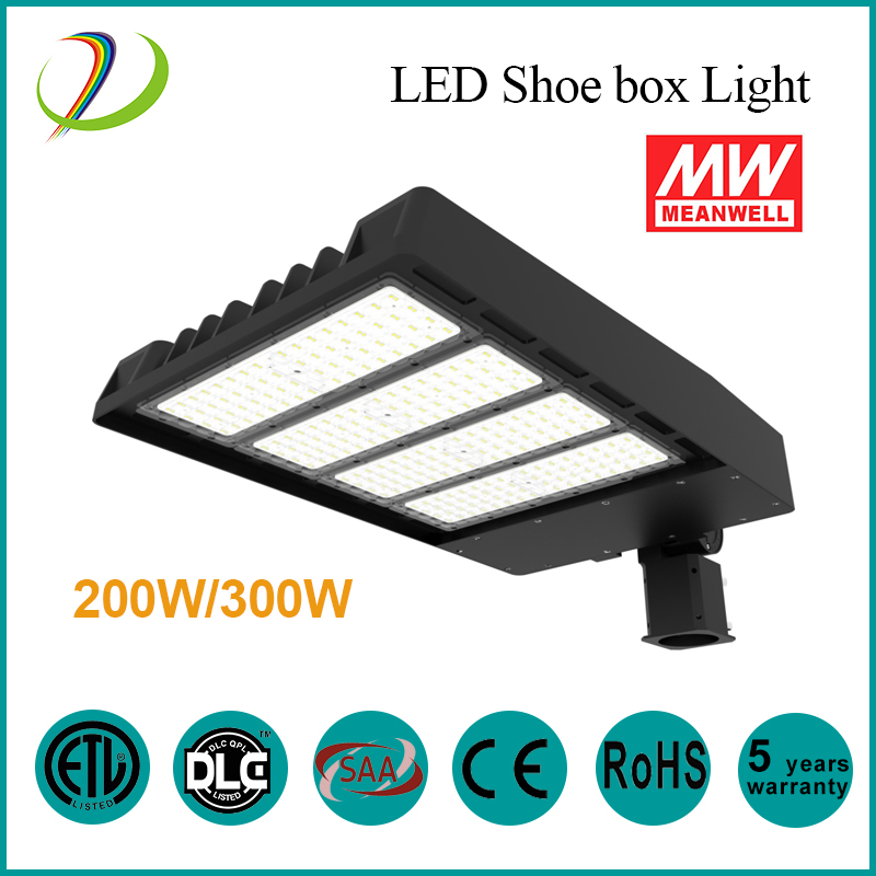 DLC 100W LED Shoe Box Light