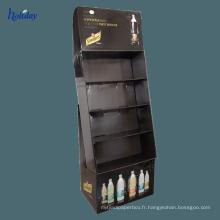Support de support de livre de lecture de carton pour la librairie, présentoirs durables de livre de plancher de promotion