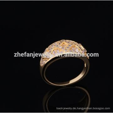 Goldringe entwerfen für Frauen mit mechanischem Ring des Preises