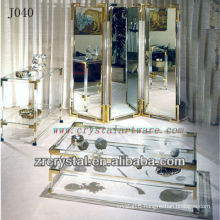 K9 Crystal Table and Cupboard with Golden Edges