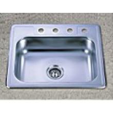 Artículos sanitarios Tazón de fuente único Fregadero de cocina de acero inoxidable (KTS2522)