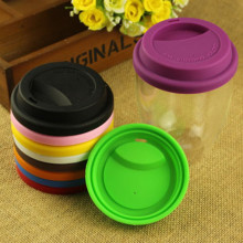 Heat Resistant Silicone Coffee Cup Cover Lids
