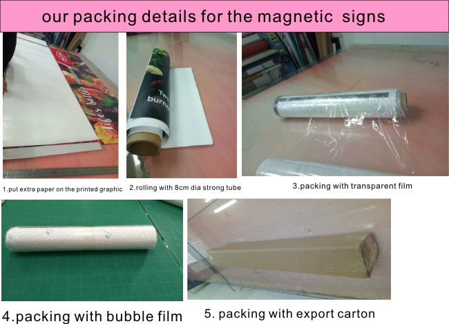 package of our custom magnetic signs