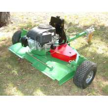 Gasoline engine powered ATV finishing mower