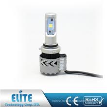 Um Par Auto Peças LED Farol Do Carro 9006 6000LM 6500 K XHP50 CSP G8 Branco Único Feixe Com Ventilador Da Turbina