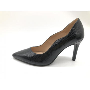 Damen Pointy Toe Weave Edge Heel Pump