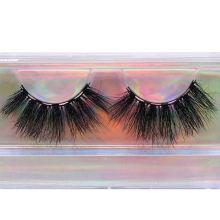 SL006H Hitomi Handmade Mink Eyelash Strips Long Eyelash soft natural mink eyelashes Fluffy 25mm Magnetic Mink Eyelashes