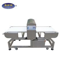 Inclined Belt Conveyor with Metal Detector On Materials