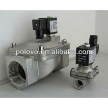 Type de filetage en acier inoxydable normalement fermé électrovanne vapeur 220v
