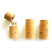 Customized Wooden Cork USB Flash Memory / Mini USB