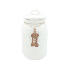 Pot en céramique de chien de stockage d'aliments pour animaux de compagnie de haute qualité