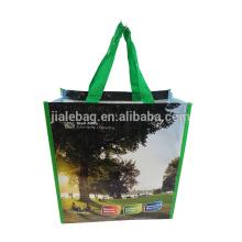 Pliage grand logo de sac à provisions personnalisé resuable