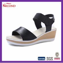 Cheap Black PU Ladies Sandálias