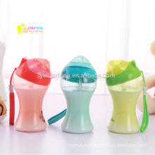 OEM logo BPA free Children drinking cup with straw portable water bottle