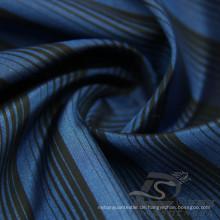 Wasser & Wind-resistente Mode Jacke Daunenjacke gewebt gestreift Jacquard 100% Polyester Kationische Garn Filament Stoff (X026)