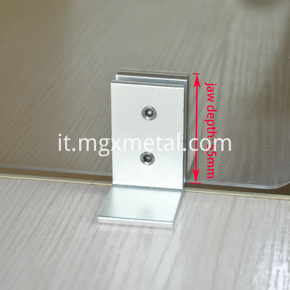 RTC0010 Sneeze Guard Acrylic Shield Desk Clamp With Deep Clamp Jaw