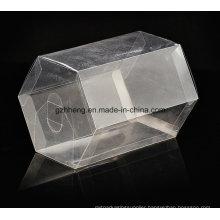 Customized Clear PVC Box (plastic hexagon can)
