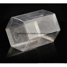 Индивидуальная прозрачная коробка из ПВХ (пластиковая шестигранная банка)