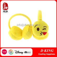 Seguridad Enfriar emoji orejera personajes suave peluche niños juguete