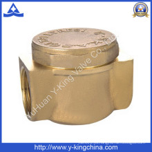 Válvula de retención de latón forjado con color de latón (YD-3010)