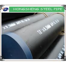 API 5L GrB ERW bisel / tubo de acero al carbono de acabado liso de buena calidad