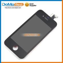 Top vente, module lcd, pièces de rechange lcd avec châssis pour iphone 4 s