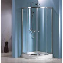 Cabine de douche en verre trempé simple concurrentiel (HR-249Q) avec revêtement facile à nettoyer double face