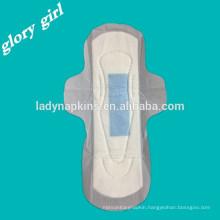 Disposable feminine ultra thin dry woven anion sanitary pads