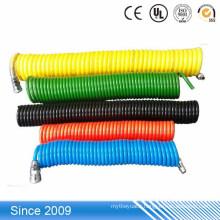 Pu spiral air flexible hose pneumatic coiled polyurethane tubing