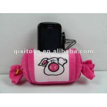 juguetes muestras gratis felpa y relleno juguetes caramelo sostenedor del teléfono