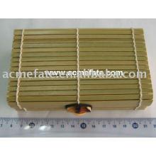 Caja de bambú desechable natural