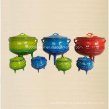 Enamel Gusseisen Kochgeschirr Set Potjie Pot für Süd-Affican Countries