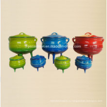 Эмалированная чугунная посуда Набор горшка Potjie для южного графства Афферен