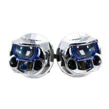 Lampe frontale laser double source lumineuse double réflecteurs
