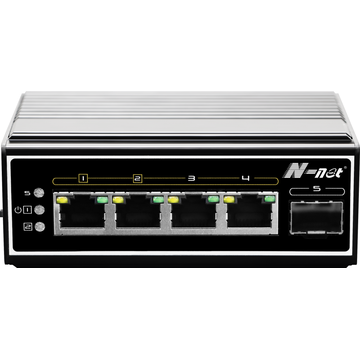 5-poorts industriële full gigabit POE-switch