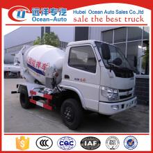 Foton 4X2 camião pequeno caminhão misturador de concreto
