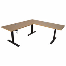 Triple legs height adjustable lifting table with hand controller use in teaching equipment for school or office.